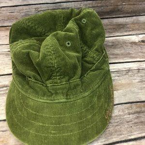 Life is good green corduroy cadet hat baseball cap